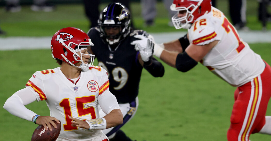 Patrick Mahomes Flexes Chiefs' Muscle to Beat the Ravens