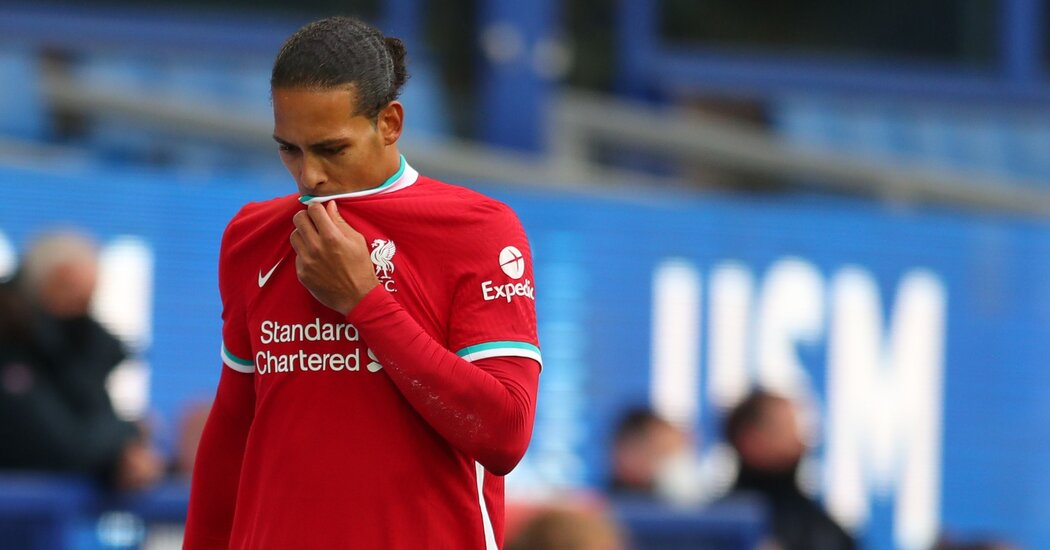 Liverpool's Van Dijk Needs Surgery, a Cruel Twist in a Tough Year